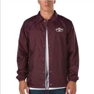 Vans Torrey Coach Red Snap Jacket Windbreaker